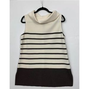 St John Wool Knit Mock Tunic Tank Top Blouse 14